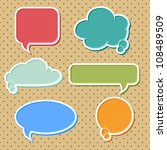 collection of colorful speech...   Shutterstock .eps vector #108489509