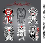 original modern cute ornate...   Shutterstock .eps vector #108489683