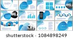 business presentation templates.... | Shutterstock .eps vector #1084898249