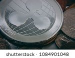 ripple coin close up on top of...   Shutterstock . vector #1084901048