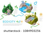 eco city vector illustration... | Shutterstock .eps vector #1084903256