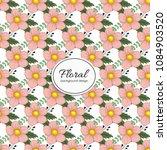 beautiful floral design. vector ...   Shutterstock .eps vector #1084903520