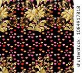 Golden Seamless Pattern. Golde...