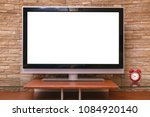 modern tv set with empty blank... | Shutterstock . vector #1084920140