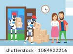 robots movers carrying... | Shutterstock .eps vector #1084922216