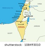 state of israel   vector map | Shutterstock .eps vector #108493010