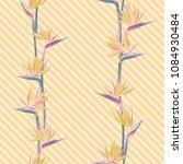 tropical flower bird of... | Shutterstock .eps vector #1084930484
