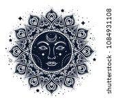 sun eclipse concept. vector... | Shutterstock .eps vector #1084931108