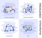 modern flat concept web banner...