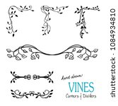 ivy and vine design elements... | Shutterstock .eps vector #1084934810