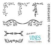 ivy and vine design elements... | Shutterstock .eps vector #1084934810