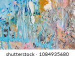 hand drawn acrylic painting.... | Shutterstock . vector #1084935680