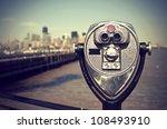 tourist binoculars at liberty... | Shutterstock . vector #108493910