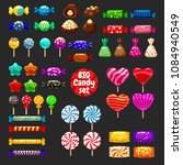 set of different sweets on...   Shutterstock .eps vector #1084940549
