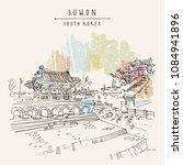 suwon  south korea  asia....   Shutterstock .eps vector #1084941896