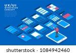 ux ui flowchart. mock ups ... | Shutterstock .eps vector #1084942460