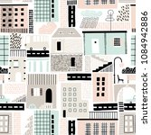 seamless pattern with old and... | Shutterstock .eps vector #1084942886