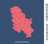 serbia no kosovo map   high... | Shutterstock .eps vector #1084943528