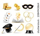 magician symbol set with black... | Shutterstock .eps vector #1084943864