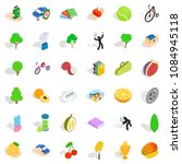 vitality icons set. isometric... | Shutterstock . vector #1084945118