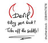 devil riding your back  take... | Shutterstock .eps vector #1084947878