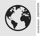 globe world map vector icon.... | Shutterstock .eps vector #1084949390