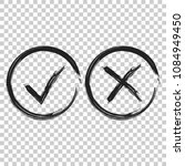check marks tick and cross icon.... | Shutterstock .eps vector #1084949450