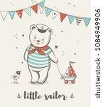 little sailor  cute bear vector ... | Shutterstock .eps vector #1084949906