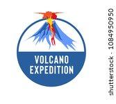volcano eruption vector...   Shutterstock .eps vector #1084950950