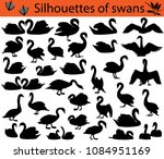collection of silhouettes of... | Shutterstock .eps vector #1084951169