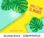 summer sale lettering banner...   Shutterstock .eps vector #1084954910