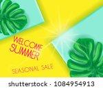 summer sale lettering banner...   Shutterstock .eps vector #1084954913