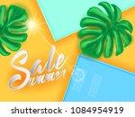 summer sale lettering banner...   Shutterstock .eps vector #1084954919