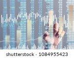 businessman plan graph growth... | Shutterstock . vector #1084955423