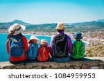 family with kids travel in... | Shutterstock . vector #1084959953