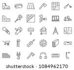 thin line icon set   cutter... | Shutterstock .eps vector #1084962170