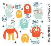 set of cute cartoon monsters... | Shutterstock .eps vector #1084962329