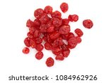 Dried Cherry Isolated On White...