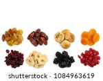 set of dried fruits isolated on ... | Shutterstock . vector #1084963619