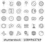 thin line icon set   circle... | Shutterstock .eps vector #1084963769