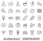 thin line icon set   coffee... | Shutterstock .eps vector #1084964690