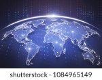 digital blue globe interface....   Shutterstock . vector #1084965149