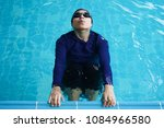professional swimmer getting... | Shutterstock . vector #1084966580
