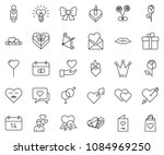 thin line icon set   rose... | Shutterstock .eps vector #1084969250