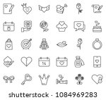 thin line icon set   rose... | Shutterstock .eps vector #1084969283