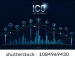 ico  initial coin offering.... | Shutterstock .eps vector #1084969430
