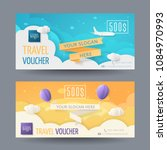 set of modern travel vouchers... | Shutterstock .eps vector #1084970993
