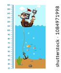 meter wall with pirate ship... | Shutterstock .eps vector #1084971998