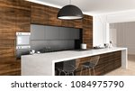 classic kitchen in vintage room ...   Shutterstock . vector #1084975790
