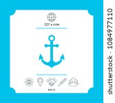 anchor icon symbol | Shutterstock .eps vector #1084977110